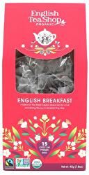 Černý čaj English breakfast 15 pyramidek sypaného čaje