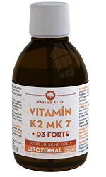 LIPOZOMAL Vitamín K2 MK7 + D3 1000 IU 250 ml