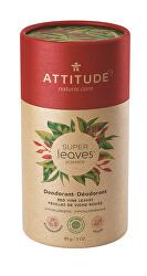 Přírodní tuhý deodorant Super Leaves - červené vinné listy  85 g