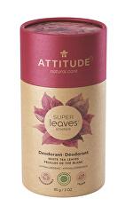Přírodní tuhý deodorant Super Leaves - listy bílého čaje  85 g