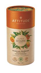 Přírodní tuhý deodorant Super Leaves - pomerančové listy 85 g