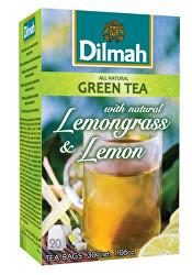 Čaj zelený Citrónová tráva, Citron 20 ks
