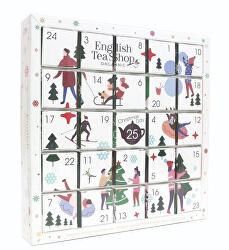 Adventní kalendář Puzzle bílé BIO 25 pyramidek