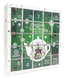 Adventný kalendár Puzzle zelený BIO 25 pyramidek