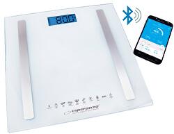 Osobní elektronická a diagnostická váha 8v1 s bluetooth B fit Scale - bílá