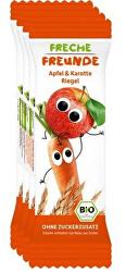 BIO Ovocná tyčinka - Jablko a mrkev 4 x 23 g