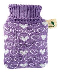 Dětský termofor Hugo Frosch Classic MINI s pleteným obalem - srdíčka, filaový