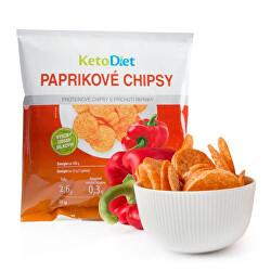 Proteinové chipsy s příchutí papriky - 25 g - 1 porce