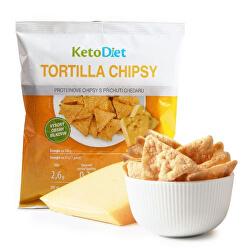 Proteinové Tortilla chipsy s příchutí chedaru - 25 g - 1 porce