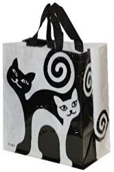 Taška lamino 24 l černobílé kočky