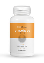 Vitamin D3 2000 I.U., 50 ucg, 90 tobolek