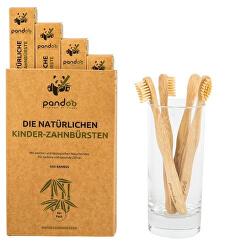 Bambusové zubní kartáčky dětské Medium Soft - výhodné balení 4 ks