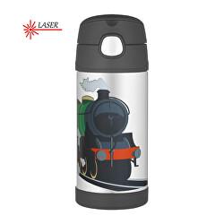 Dětská termoska s brčkem - vlak