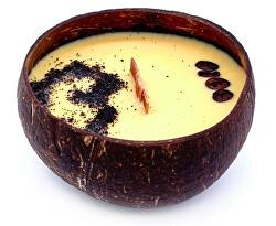 Sviečka z kokosu - vône Coffee Mocha