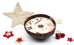 Vánoční svíčka v kokosu