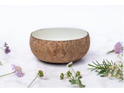 Kokosová miska NATURAL BÍLÁ