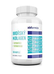 Mořský kolagen + vitamín C + vitamín B3, 30 kapslí