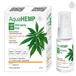 AquaHEMP Spray LIME broad spectrum 25 ml
