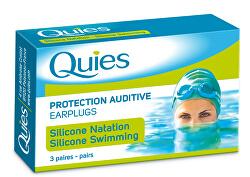 Silikonové chrániče sluchu na plavání (3 páry)