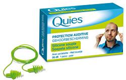 QUIES Silikonové chrániče sluchu se šňůrkou (1 pár)