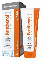 Panthenol 10% Swiss PREMIUM gél s mentolom 100 + 25 ml