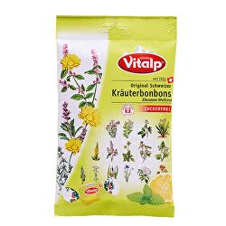 VITALP bylinné bonbony citron+ meduňka bez cukru 75 g