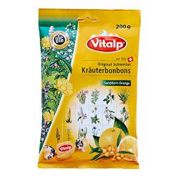 VITALP bylinné bonbony rakytník + pomeranč 200 g