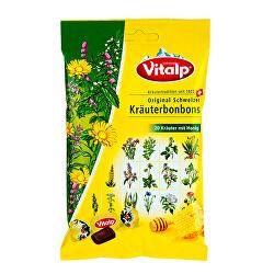 VITALP bylinné bonbony s medem 75 g