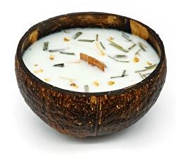 Sviečka v kokose - vôňa Citrónová tráva & zázvor