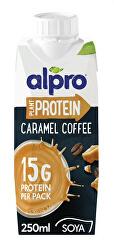 High Protein sójový nápoj s příchutí karamelu a kávy 250 ml