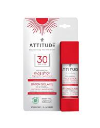 100% minerální ochranná tyčinka na obličej a rty SPF 30 bez vůně 18,4 g