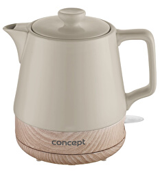 RK0061 Rychlovarná konvice keramická 1 l, kávová