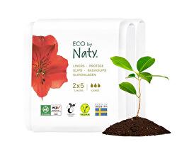 Dámské ECO slipové vložky Naty - super - cestovní balení (2x5 ks)