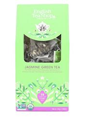 Zelený čaj s jasmínem a bezinkou 15 pyramidek sypaného čaje