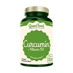 Curcumin + vitamín D3 60 kapslí