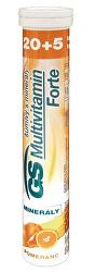 GS Multivitamin s minerály Šumivý Forte Pomeranč 20 + 5 tablet
