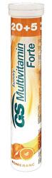 GS Multivitamin Šumivý Forte Pomeranč 20 + 5 tablet