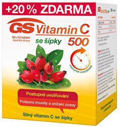 GS Vitamín C 500 + šípky 50 + 10 tablet