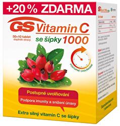 GS Vitamín C1000 + šípky 50 + 10 tablet