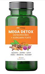 MOVit Mega Detox Ostropestřec + Kurkumin FORTE, 60 kapslí