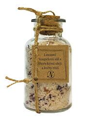 Luxusní koupelová sůl séterickými oleji a květy růží 300 g
