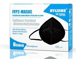 Respirátor FFP2 Hygisun - black 6 ks