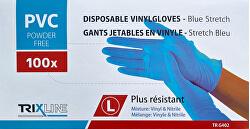 Rukavice nitril/vinyl modré bez pudru L jedn. 100 ks