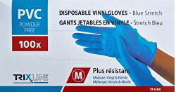 Rukavice nitril/vinyl modré bez pudru M jedn. 100 ks