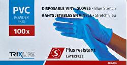 Rukavice nitril/vinyl modré bez pudru S jedn. 100 ks