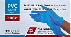 Rukavice nitril/vinyl modré bez pudru XL jedn. 100 ks