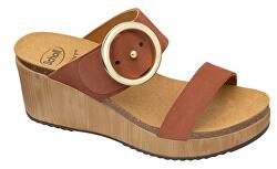 Zdravotná obuv - MALIBU`WEDGE Nub-W - Cognac