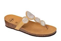 Zdravotná obuv - SHARON FLIP - MicroStrass-W - Beige