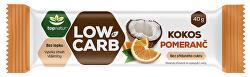 LOW CARB tyčinka Kokos & Pomeranč 40 g