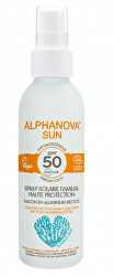 SUN opalovací krém sprej rodinný v hliníkovém obalu SPF 50 BIO 150 g